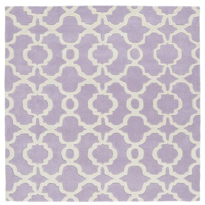 Molly Hand-Tufted Lilac / Ivory Area Rug Rug Size: Square 119