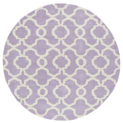 Molly Hand-Tufted Lilac / Ivory Area Rug Rug Size: Round 39