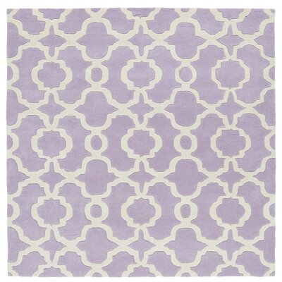 Molly Hand-Tufted Lilac / Ivory Area Rug Rug Size: Square 79