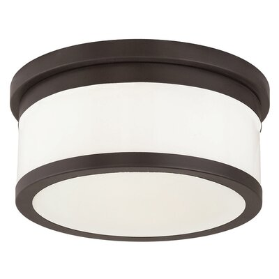 Canning 2-Light Drum/Cylinder Shade Flush Mount Finish: Bronze