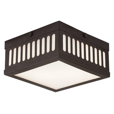 Alix 2-Light Flush Mount Finish: Bronze