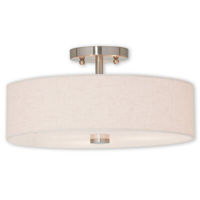 Kopecky 3-Light Semi Flush Mount Finish: Brushed Nickel