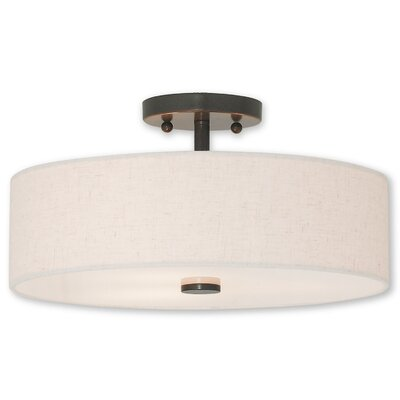 Alina 3-Light Semi Flush Mount Finish: English Bronze