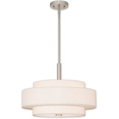 Alina 4-Light Metal Drum Pendant