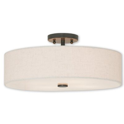 Alina 4-Light Semi Flush Mount Finish: English Bronze