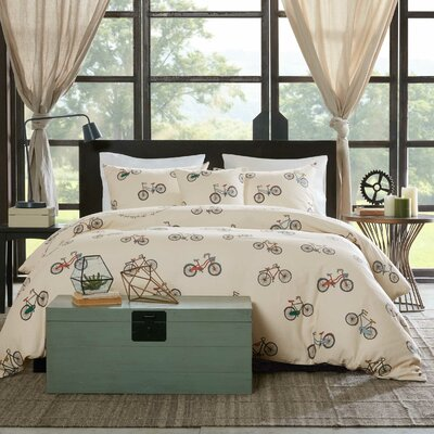 Louisa 4 Piece Duvet Cover Set Size: King
