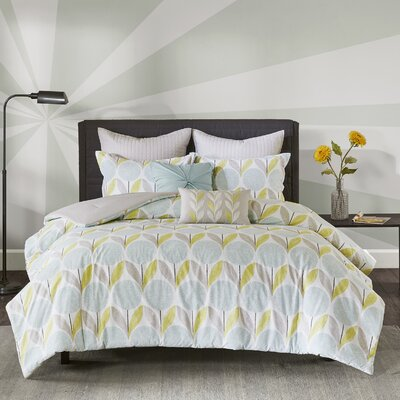 Wyss 7 Piece Comforter Set Size: Full/Queen, Color: Aqua