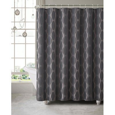 Wyss Shower Curtain Color: Black