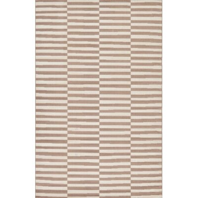 Braxton Light Brown Area Rug Rug Size: Rectangle 5 x 8