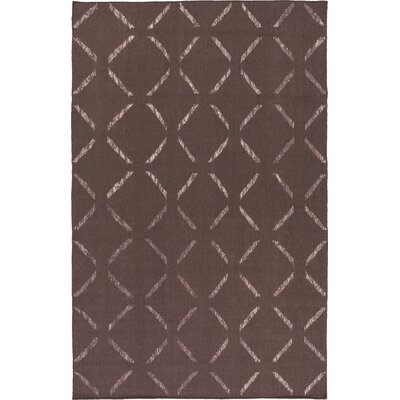 Varnado Hand-Woven Dark Taupe Area Rug Rug Size: Rectangle 5 x 76