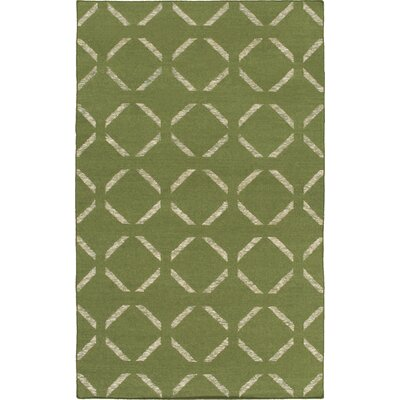 Hand-Woven Green Area Rug Rug Size: Rectangle 9 x 13