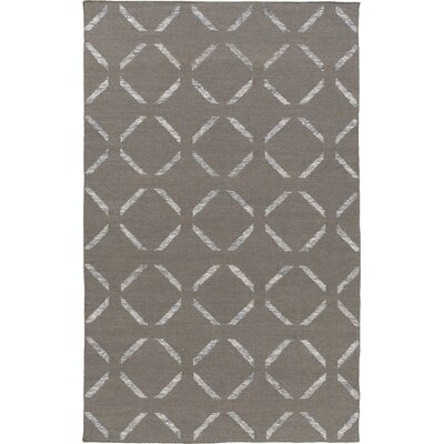 Varnado Hand-Woven Dark Brown Area Rug Rug Size: Rectangle 5 x 76