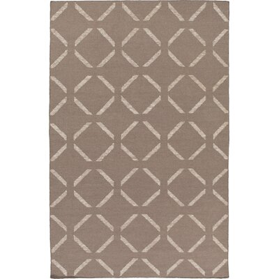 Varnado Hand-Woven Brown Area Rug Rug Size: Rectangle 5 x 76