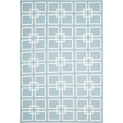 Square Dance Geyser Blue Area Rug Rug Size: Rectangle 6 x 9