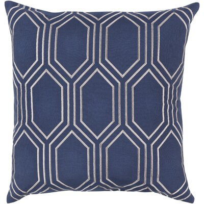 Byrom 100% Linen Throw Pillow Cover Size: 18 H x 18 W x 1 D, Color: NavyGray