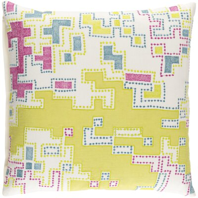 Caban 100% Cotton Throw Pillow Cover Size: 18 H x 18 W x 1 D, Color: YellowPurple