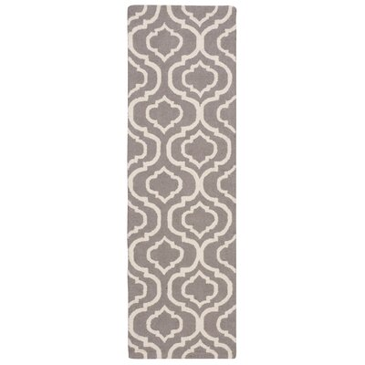 Aidyn Hand-Hooked Gray Area Rug Rug Size: Runner 23 x 76