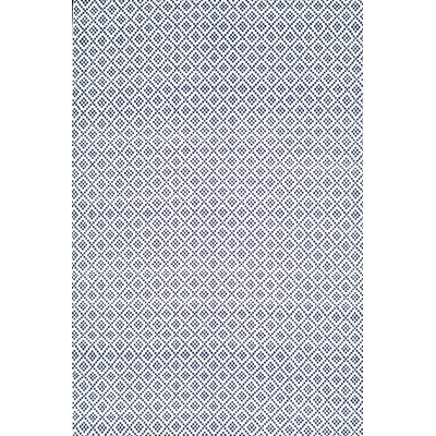 Malbrough Hand-Woven Navy Blue/White Area Rug Rug Size: 9 x 12
