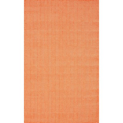 Malbrough Hand Woven Cotton Orange Area Rug Rug Size: Rectangle 8 x 10