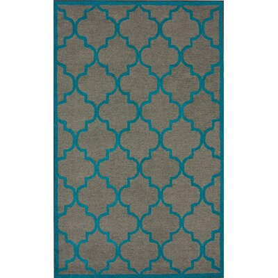 Paulino Hand-Tufted Wool Gray/Blue Area Rug Rug Size: Rectangle 76 x 96