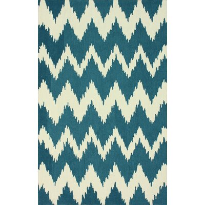 Rutherford Blue Chevron Area Rug Rug Size: 9 x 12