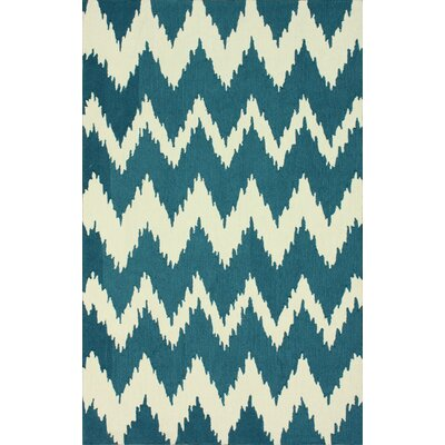 Rutherford Blue Chevron Area Rug Rug Size: 6 x 9