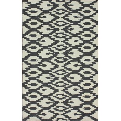 Rutherford Soft Grey Ikat Area Rug Rug Size: 6 x 9