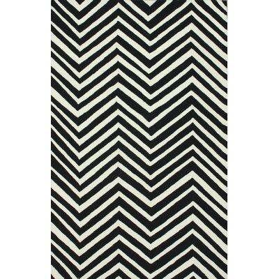 Sabatini Black Chevron Area Rug Rug Size: 76 x 96
