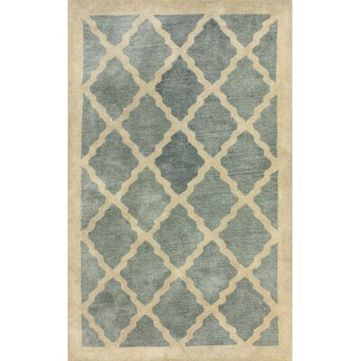 Saldana Hand-Woven Wool Blue/Beige Area Rug Rug Size: Rectangle 86 x 116