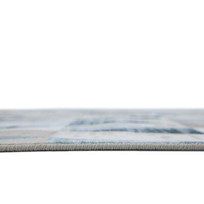 Brayden Beige/Blue Area Rug Rug Size: 5 x 8
