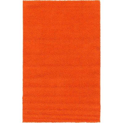 Breton Orange Area Rug Rug Size: 5 x 8
