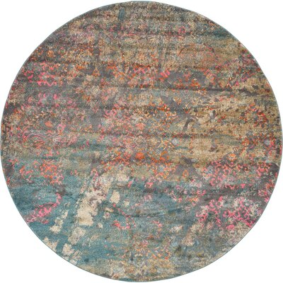 Cherry Street Gray Area Rug Rug Size: Round 8
