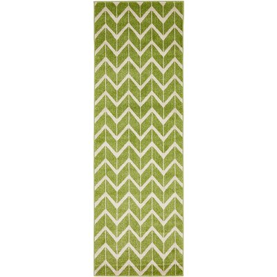 Kellie Green Area Rug Rug Size: 7 x 10