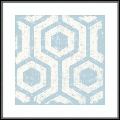 'Winter Lattice Tile VIII' Framed Graphic Art