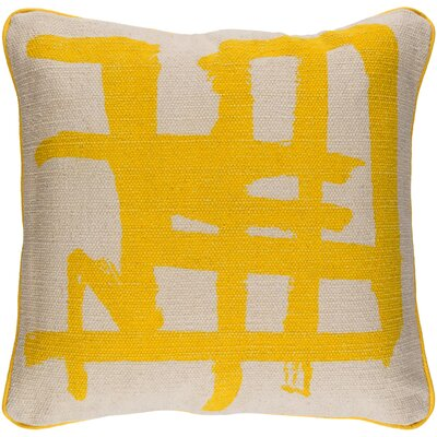 Oceane 100% Cotton Throw Pillow Cover Color: YellowNeutral