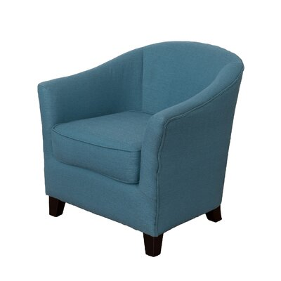Camryn Barrel Chair Upholstery: Blue