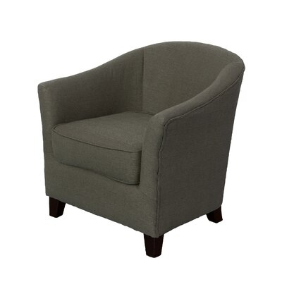 Dawkins Barrel Chair Upholstery: Army Green