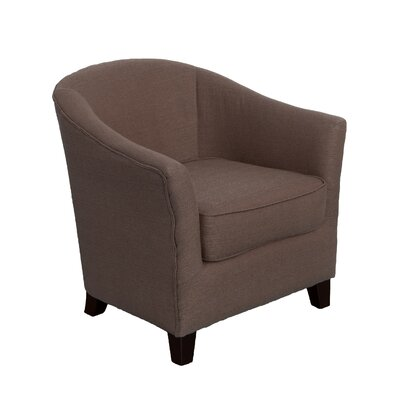 Camryn Barrel Chair Upholstery: Brown