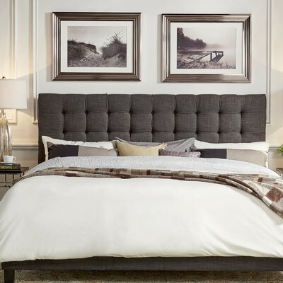 Cacho Upholstered Panel Headboard Upholstery: Dark Gray, Size: Queen