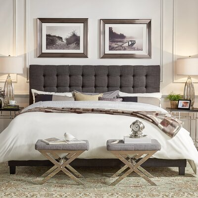 Cacho Upholstered Panel Bed Upholstery Color: Dark Gray, Size: Queen