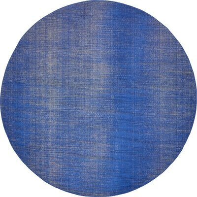Risley Navy Blue Area Rug Rug Size: Round 8