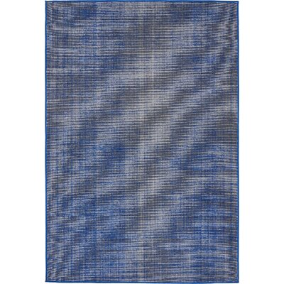 Risley Navy Blue Area Rug Rug Size: 4 x 6