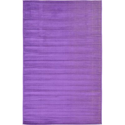 Risley Violet Area Rug Rug Size: Rectangle 5 x 8