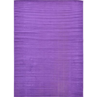 Risley Violet Area Rug Rug Size: Rectangle 7 x 10