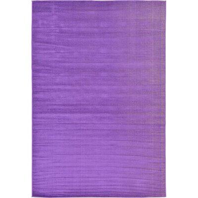 Risley Violet Area Rug Rug Size: Rectangle 6 x 9