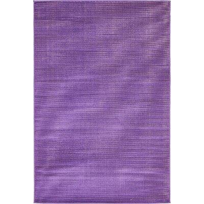 Risley Violet Area Rug Rug Size: 4 x 6