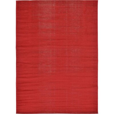 Risley Red Area Rug Rug Size: 7 x 10