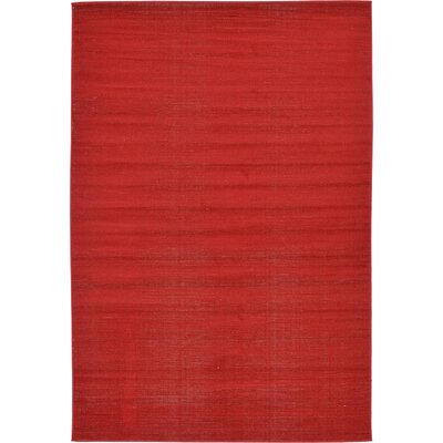 Risley Red Area Rug Rug Size: Rectangle 6 x 9