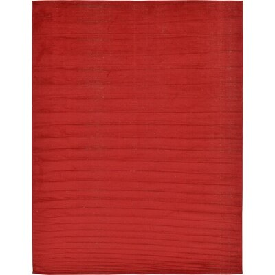 Risley Red Area Rug Rug Size: Rectangle 9 x 12