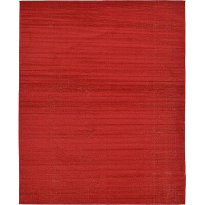 Risley Red Area Rug Rug Size: Rectangle 8 x 10